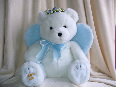 snow angel teddy bear blue wings 1